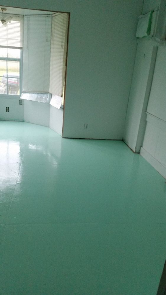 Painted Plywood Floors.