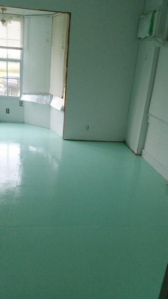 Painted Plywood Floors.