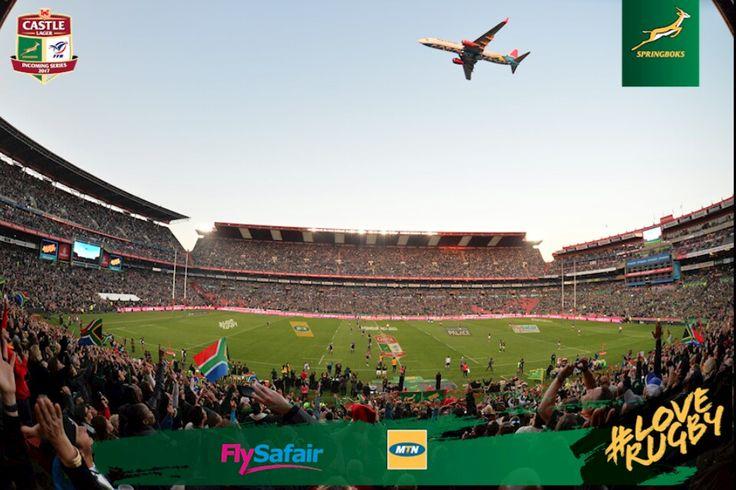 International Month: June 2017 South Africa vs France  #LionsSpringboks #LeyaTheLion #Liontainment #LionsPride #ShowYourPride #Rugby #Sport #Johannesburg #Red #White #LoveRugby #Green #Gold #TestMatch #HomeStadium