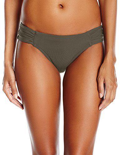 Jets by Jessika Allen Women's Jetset Gathered Side Hipster Bikini Bottom #deals
