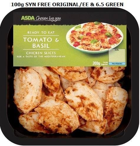 asda's chosen by you tomato & basil chicken breast slices - syn free.