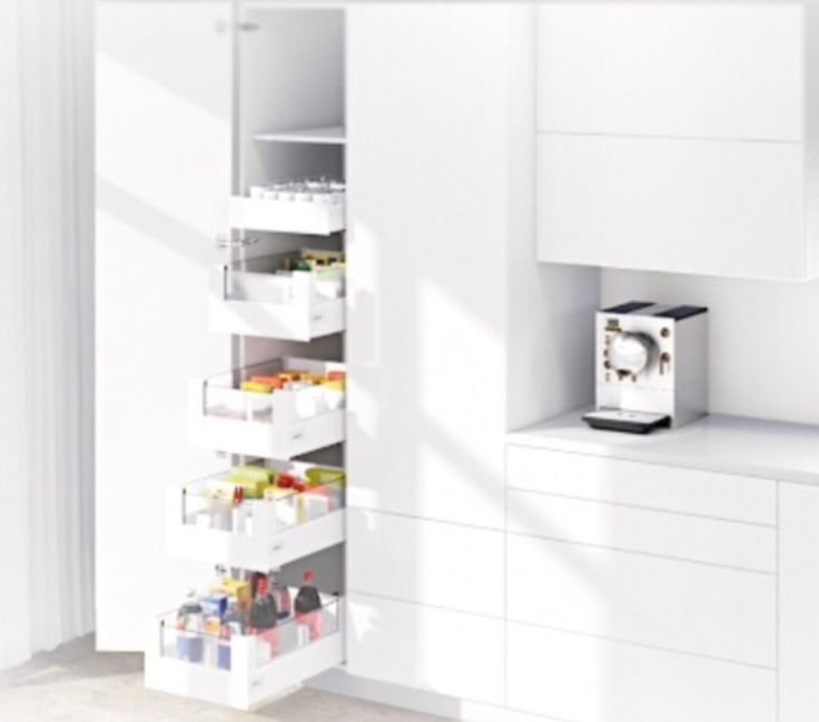 Blum Narrow pantry-pull out shelves