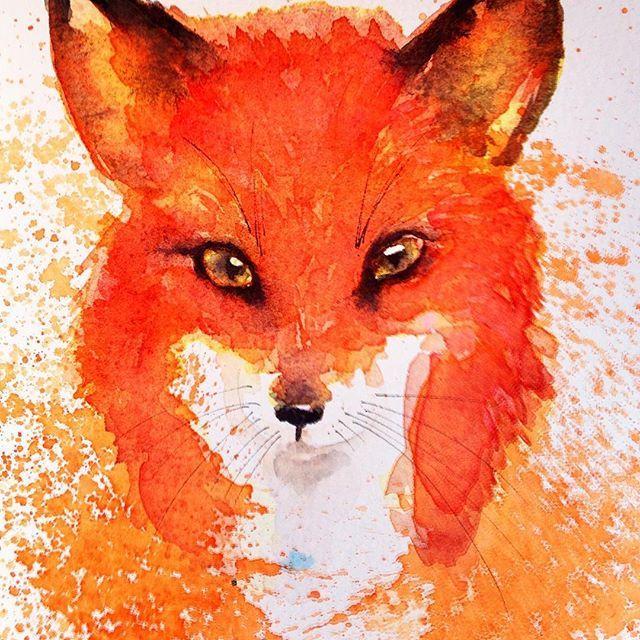Have a foxy Friday 🐺 #friday #fox #art #foxes #foxlove #painting #watercolor #watercolour #animalart #watercolorpainting #ifdrawaweek #cbdrawaday #365daysofpaint #friyay #artday #artoftheday #paintingoftheday #creative_animalart #animalcreatives #goingwiththeflow #creativelifehappylife #spiritanimal #followyourdreams #watercolour_gallery #waterblog