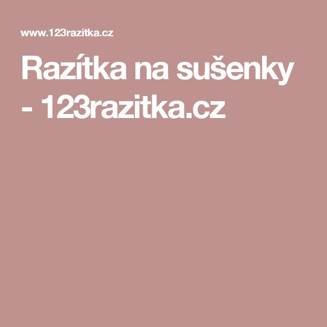Razítka na sušenky - 123razitka.cz