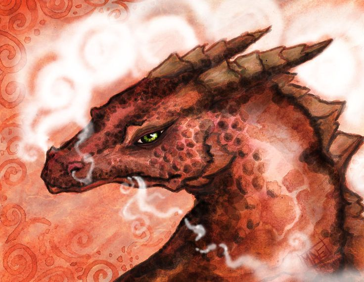 Dragons are some of my favorite things to sketch, another 'tiney shiney' miniature 3.5 x 4 inches