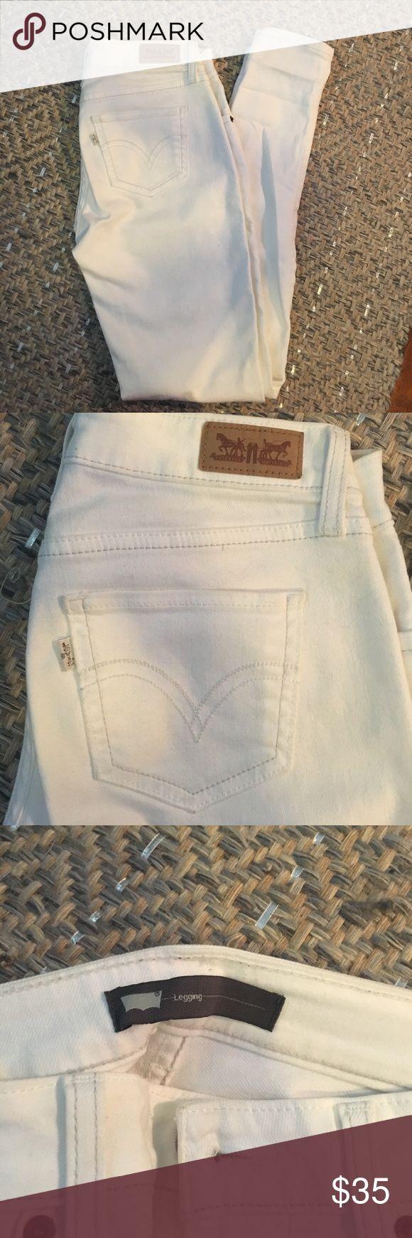 White Levi's Legging White Levi's denim legging Levi's Jeans Skinny