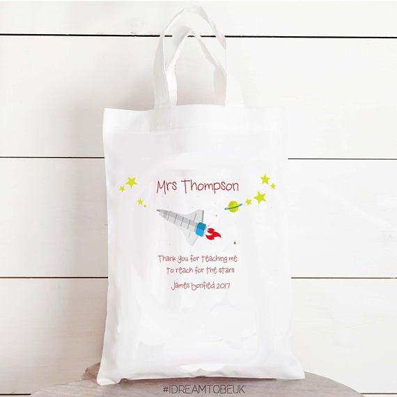 Teachers gift  personalised tote bag personalised gift bag