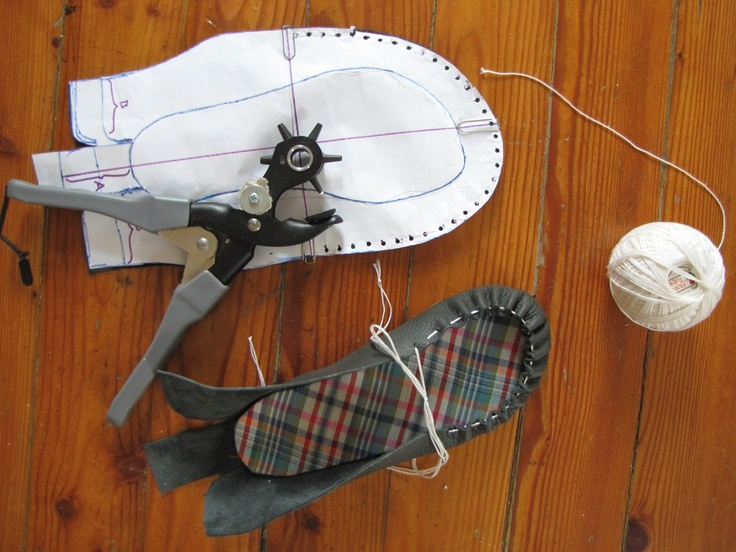 diy moccasin pattern