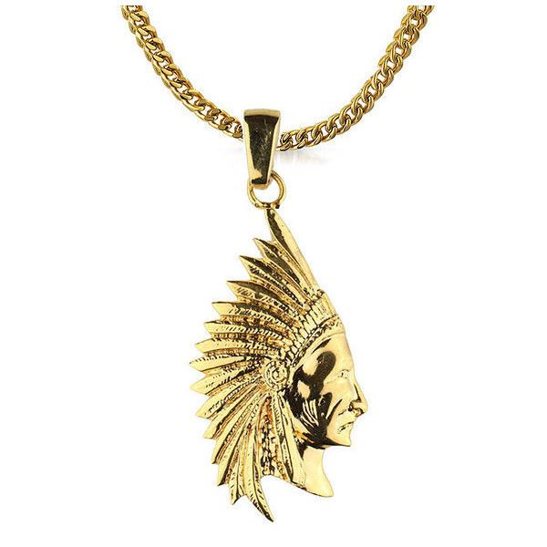 Mens gold chain necklace 25 pinterest roial osage chain gold 54 liked on polyvore featuring mens fashion mens jewelry mens necklaces gold mens box chain necklace mens gold mozeypictures Choice Image