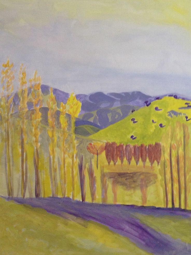 landscape colour sketch
