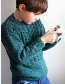 Пуловер с теневым узором на кокетке