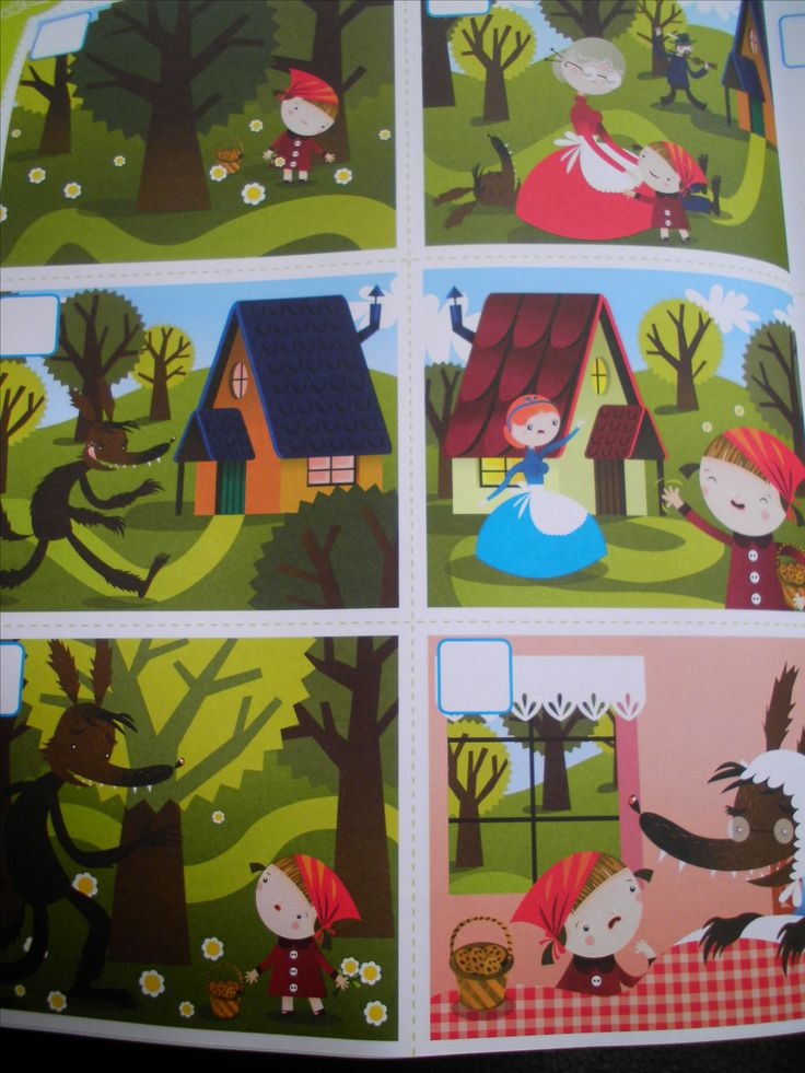 Werkblad logisch rangschikken: het verhaal van Roodkapje (vakantieboek Averbode)