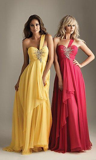 Sheath Chiffon Asymmetric Long Dress Charm86034