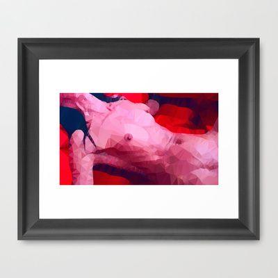 Femme fatale | Polygon Art Framed Art Print by Mirek Kodes - $37.00
