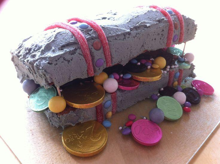Piraten schatkist taart