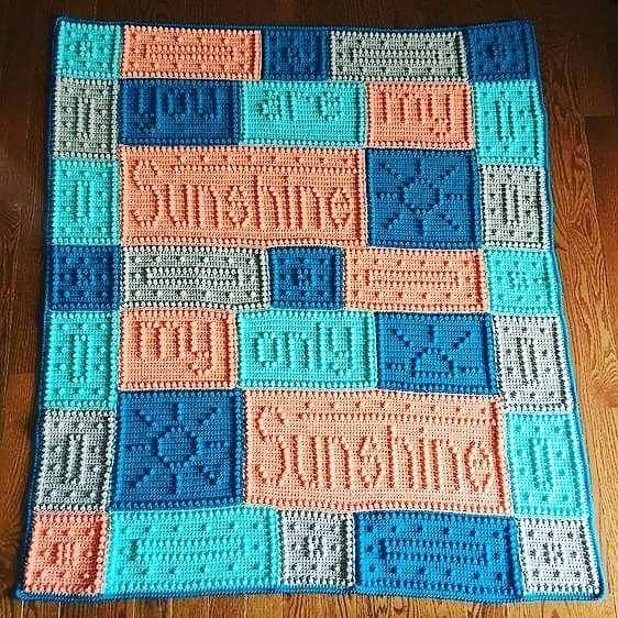 Free Crochet Pattern For You Are My Sunshine Blanket : 17 Best images about Crochet Blankets on Pinterest Free ...