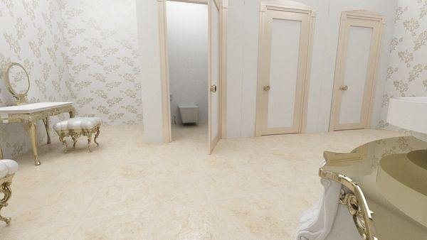 Bath interior by Silviu Avram, via Behance