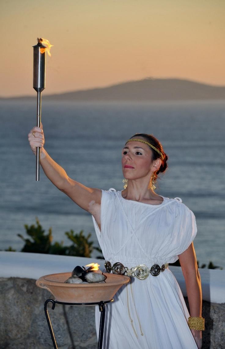Artist performing at the amphitheater - Mykonos Grand Hotel & Resort