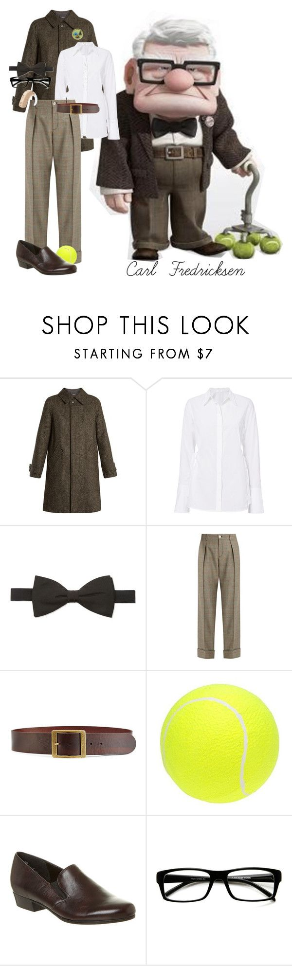 """Carl Fredricksen"" by allyssister ❤ liked on Polyvore featuring A.P.C., Gieves & Hawkes, Gucci, Frame, Munro American and ZeroUV"