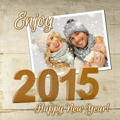 Happy New Year wood 2015 1