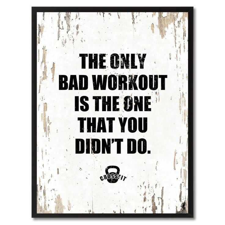 The Only Bad Workout Is The One That You Didnu0027t Do Saying Canvas Print,  Black Picture Frame Home Decor Wall Art Gifts