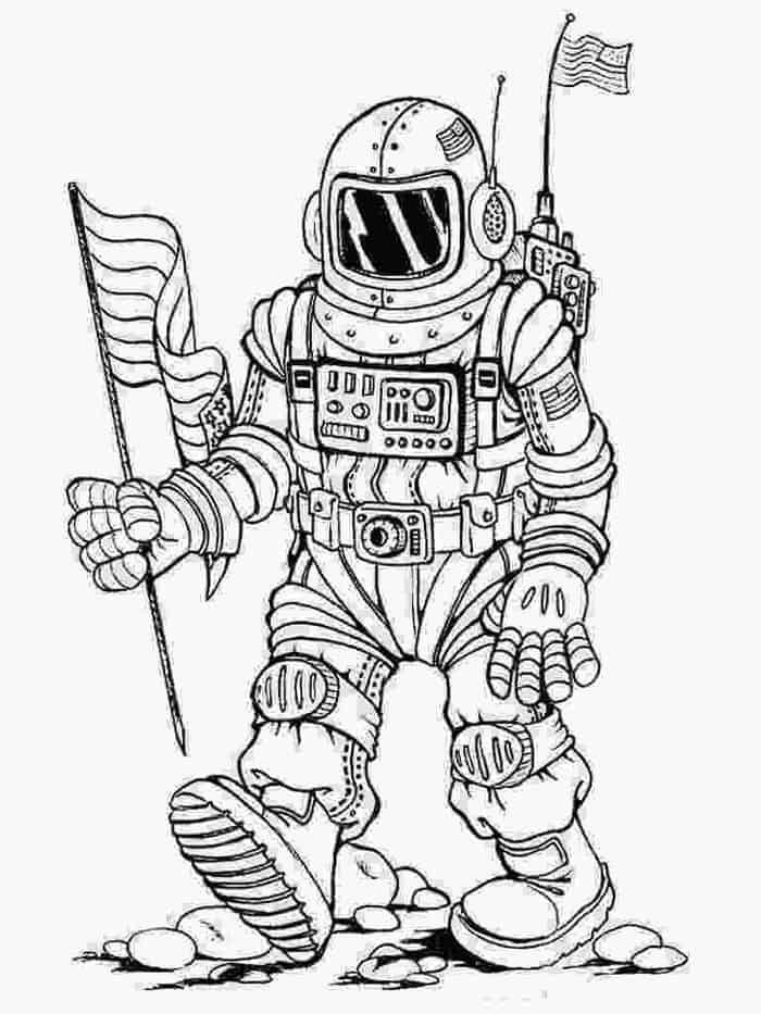 Astronaut Coloring Pages In 2020 Space Coloring Pages Moon