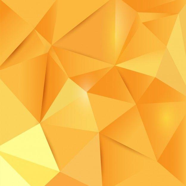 Poligonal fundo amarelo Vetor grátis