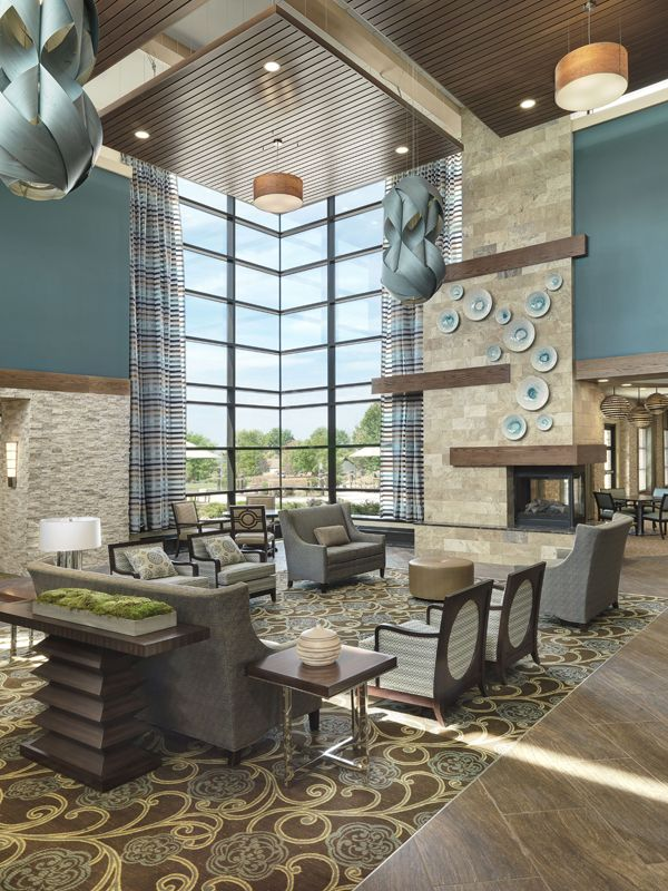 New Lobby and Lounge at Friendship Village Sunset Hills in St. Louis -  designed by  Lobby DesignPlaza DesignSenior ...