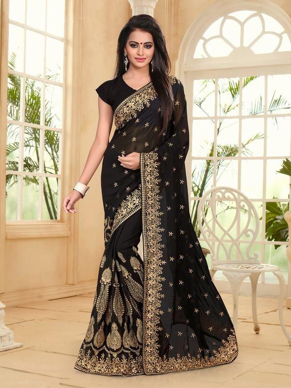 dashing-black-georgette-saree-with-black-georgette-blouse   #WomenSaree #DesignerSareesOnlineShopping #BuyIndianSaree   #BuyDesignerBollywoodSarees #PrintedSarisOnline #BuyLadiesSarees   #DesignerSariOnline #WomenSareeOnline #LatestSareeCollection #BridalSareesOnlineatLowPrice