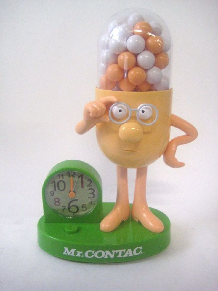 Mr Contac Talking Alarm Clock Figure Advertising Drug Mascot #MrContact