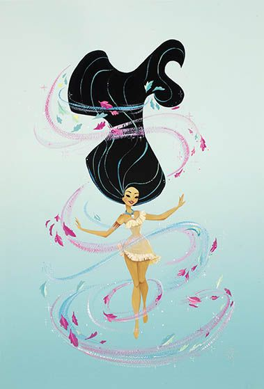 Can you paint with all the colors of the wind?  Liana Hee's new Pocahontas piece for the Disney Wonderground Gallery releases this weekend September 13, 2014!