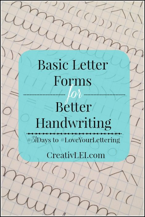To get creative with our lettering, first we have to understand the basics. Today we get back to the very basic foundations and letter forms.