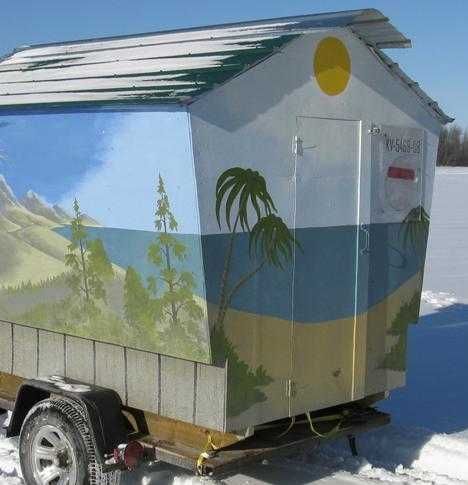 25 best ideas about ice fishing shelters on pinterest for Homemade hunting shack