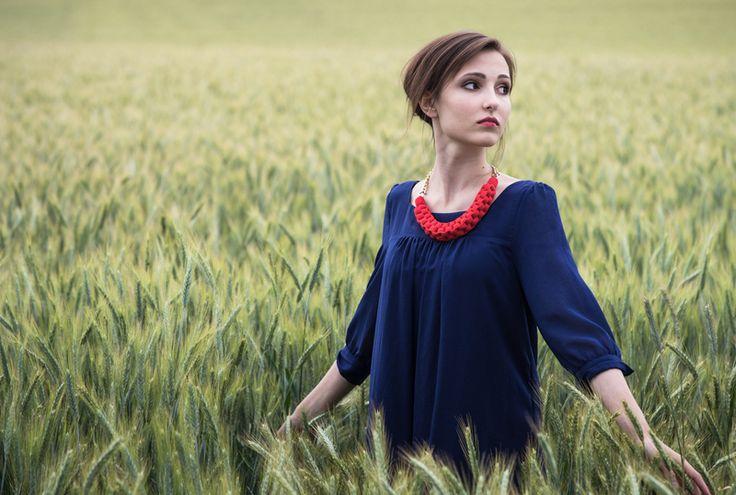 Statement Jerseykette Rot von Kreativ-Phase auf DaWanda.com