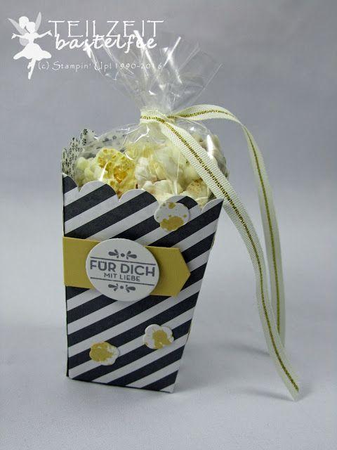 Stampin' Up! Thinlits Popcorn-Schachtel, Popcorn Box, Hausgemachte Leckerbissen, Homemade for you