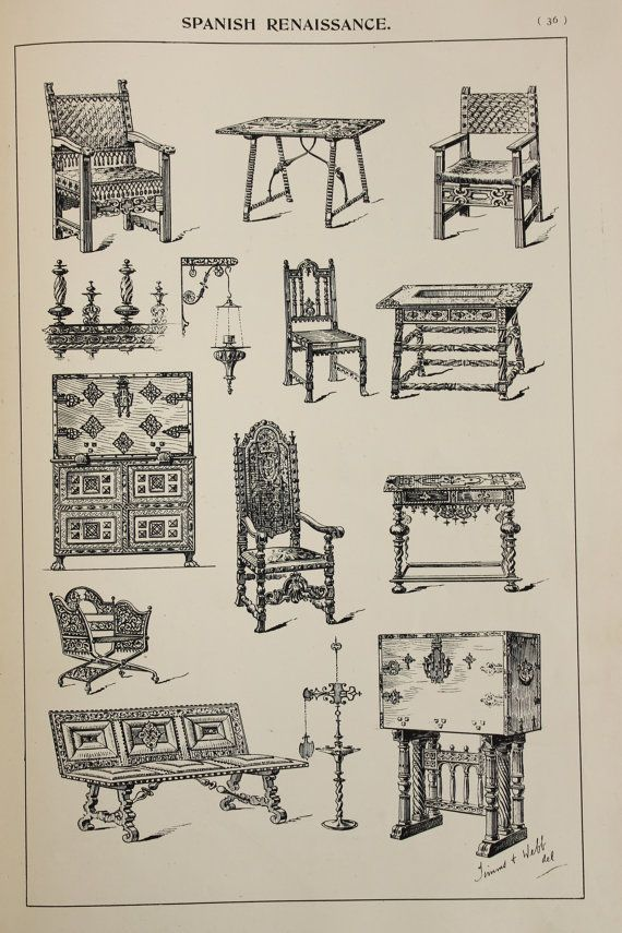 Spanish Renaissance Furniture Designs Large by PaperPopinjay