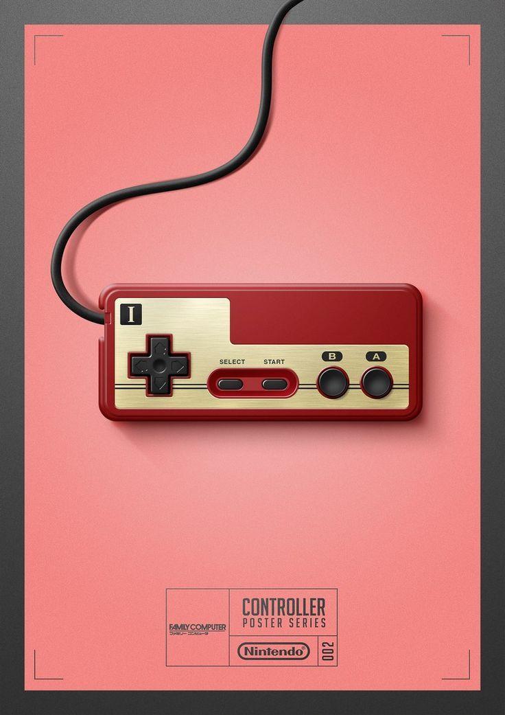Illustrator Cree Des Affiches Honorant Les Anciennes Commandes De Jeux Video Jeux Retro Jeux Jeux Video
