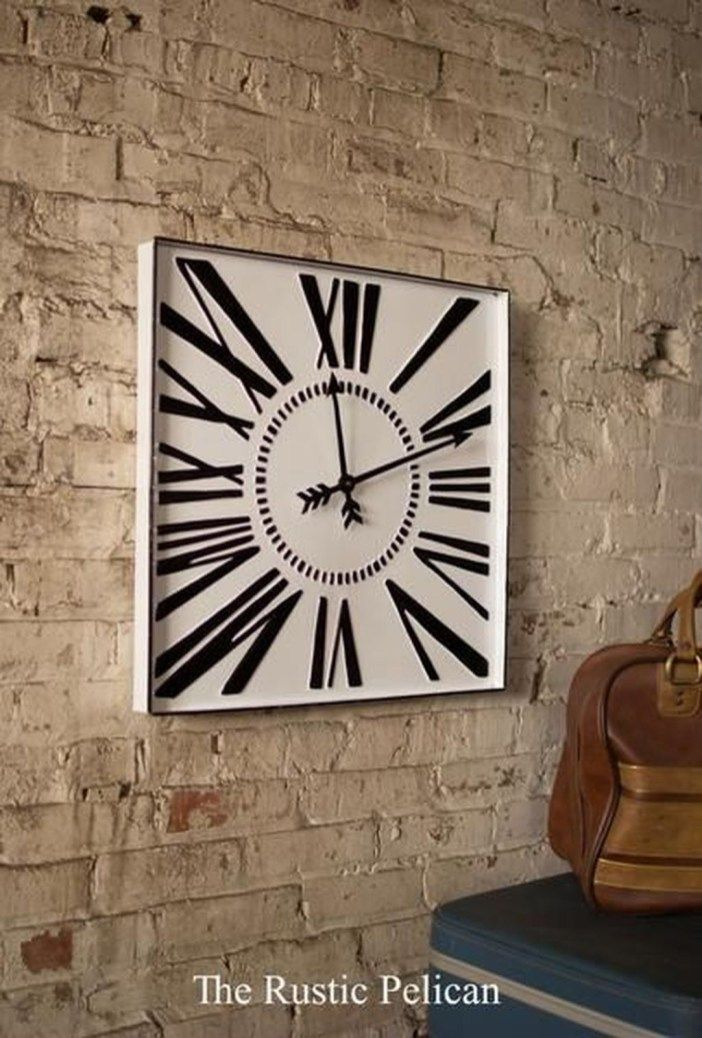 45 Creative Wall Clock Ideas For Your Home Country Decor Cheap