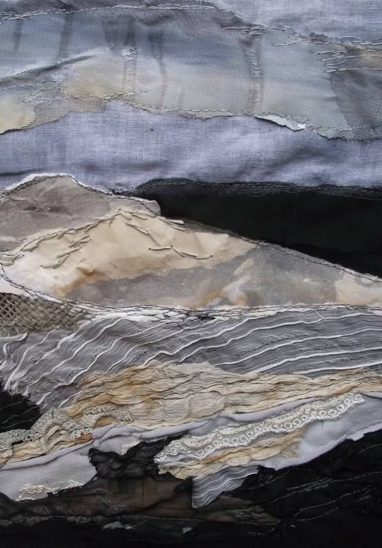 Winter Fields- #textile art.  Laura Edgar www.lauraedgar.co.uk