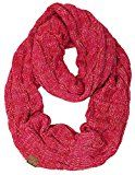 S1-6800-816.42 Ribbed Four Color Scarf: Red/Hot Pink Combo (#10)