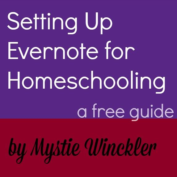 Learn how to set up Evernote for homeschool organization! Get your free visual guide that will walk you through setting up Evernote for homeschooling.