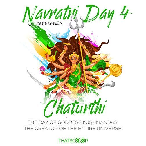 #Navratri #Quotes #Facts #Day4 #Green www.thatscoop.com