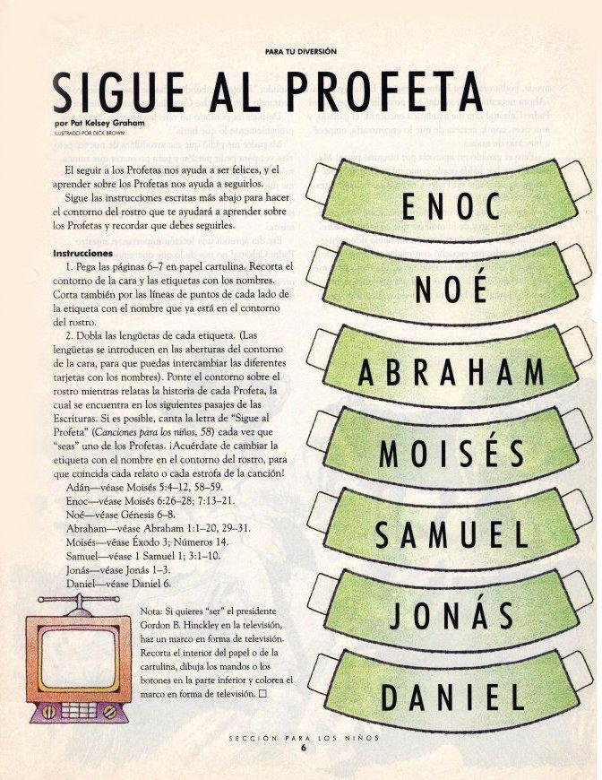 Los profetas son llamados por Dios | Religión | Lds primary, LDS y ...