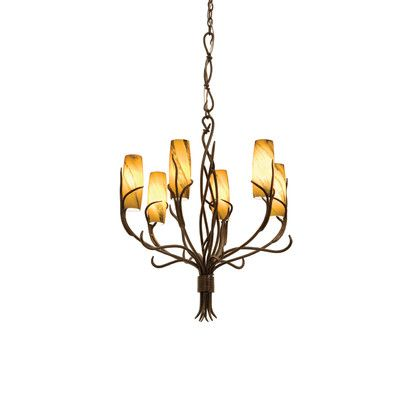 Kalco 4756GW /SUNSET Chandeliers Napa 6 Light Chandelier