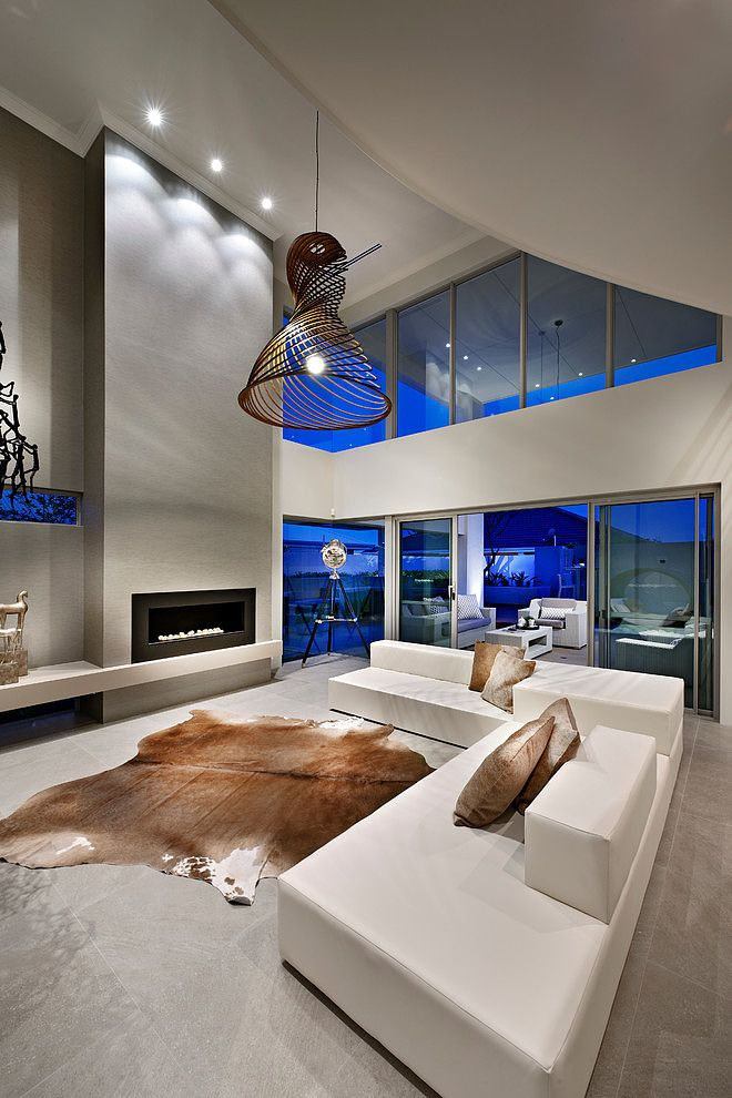 Situated in Perth, Australia, this modern four-bedroom residence was designed by Webb & Brown-Neaves