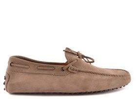 Tod's Men's Brown Suede Loafers.