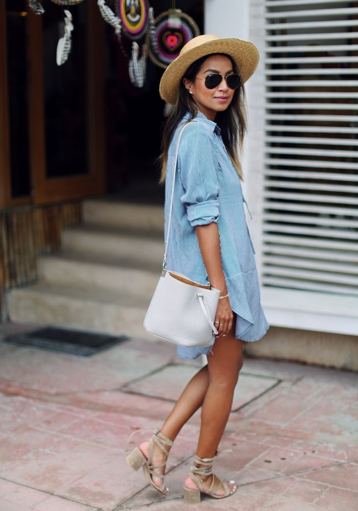 Perfect denim dress and perfect Ray-Ban RB3035 Aviator sunglasses http://www.smartbuyglasses.com/designer-sunglasses/Ray-Ban/Ray-Ban-RB3025-Aviator-Polarized-001/58-4304.html