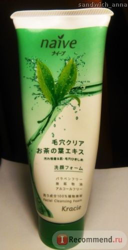 Пенка для умывания Kracie Naive и снятия макияжа с экстрактом чайного листа фото