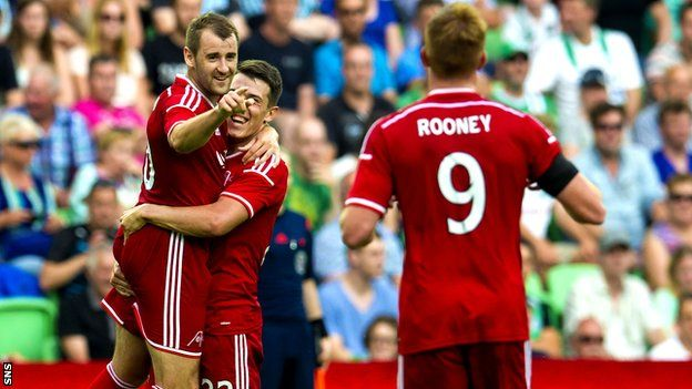 Aberdeen booked their place in the third qualifying round of the Europa League with a fantastic 2-1 win in the Netherlands against FC Groningen.