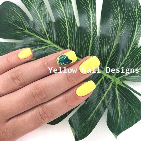 23 Great Yellow Nail Art Designs 2019 #yellownaildesign #nailart   – Yellow Nail Art